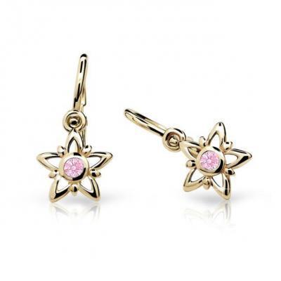 Zlaté dětské náušnice Cutie C1996-10-20 Pink